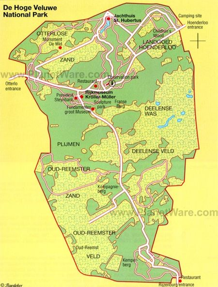De-hoge-veluwe-national-park-map
