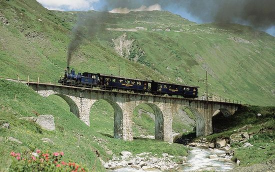 Dampfbahn Furka Bergstrecke_2
