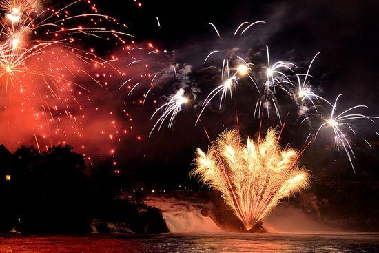 Rheinfall-Firework