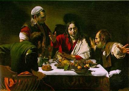 Supper_at_emmaus_by_caravaggio 2010年、イタリア・バロック絵画