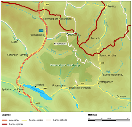 Map_at_nationalpark_nockberge_locat